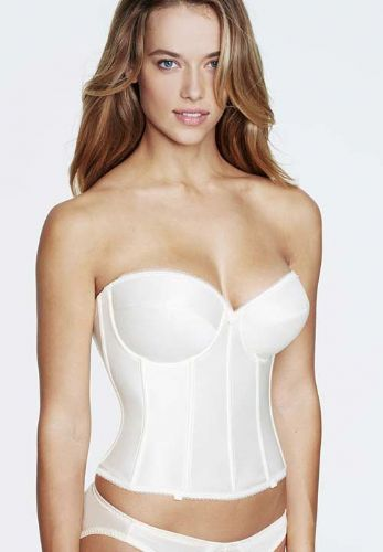 6f6772e4c99 Low Backed Basque with Deep Plunge in Satin .